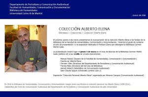 COLECCIÓN ALBERTO ELENA. BIBLIOTECA 2016