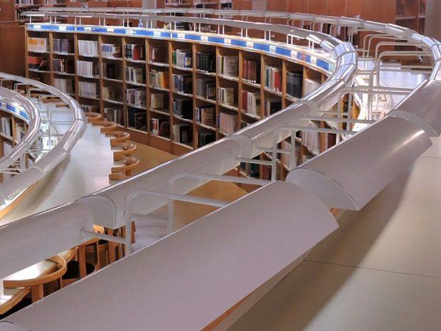Foto de la Sala de lectura de la Biblioteca de Ciencias Sociales y Jurídicas