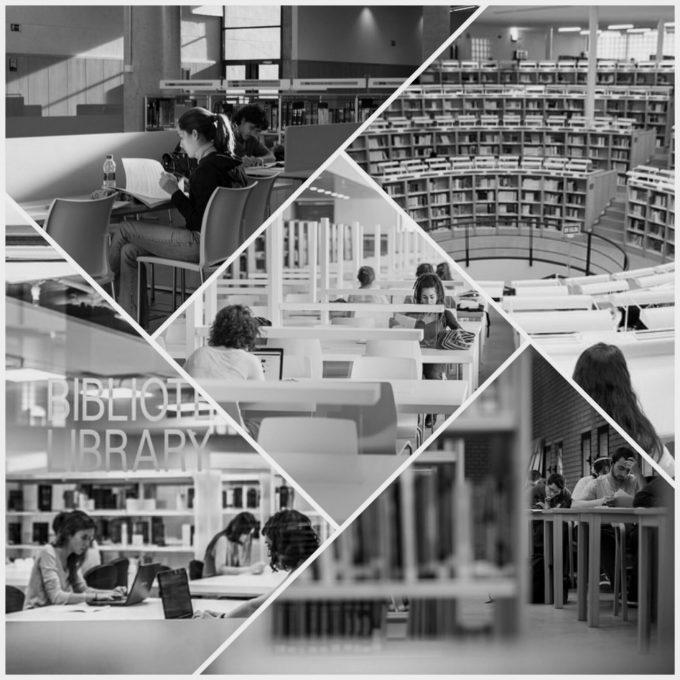 Collage de las salas de lectura