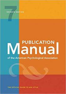 APA Publication Manual 7th ed.